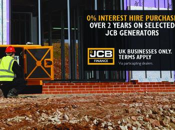 JCB Generators at 0% Interest HP over 2 years