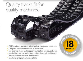 JCB Trackmaster with 18 month warranty!