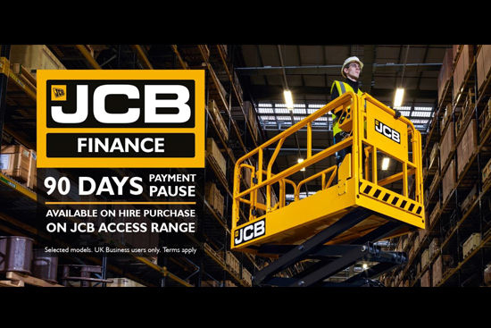 90 Days Payment Pause available on Hire Purchase on JCB Access Range