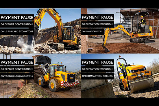 Payment Pause or Deposit Contribution on a Selection of JCB Machines